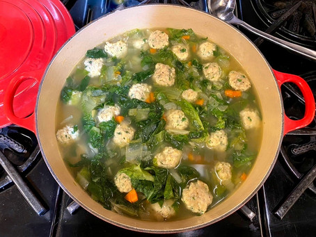 Chicken Meatball and Escarole Soup