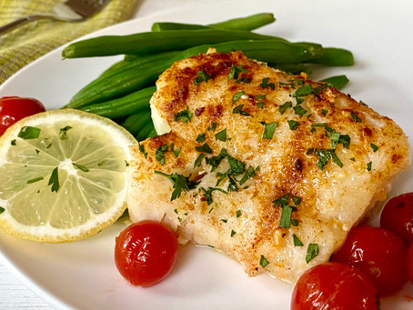 Easy Baked Cod with Tomatoes