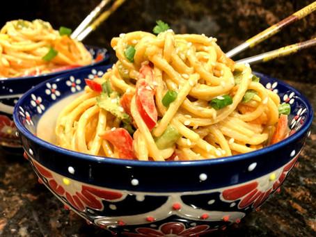 Veggie Peanut Noodles