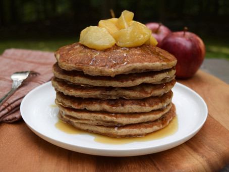 Apple Pancakes with Sauteed Apples
