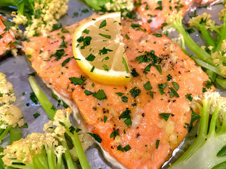 Oven-Baked Salmon Scampi Style