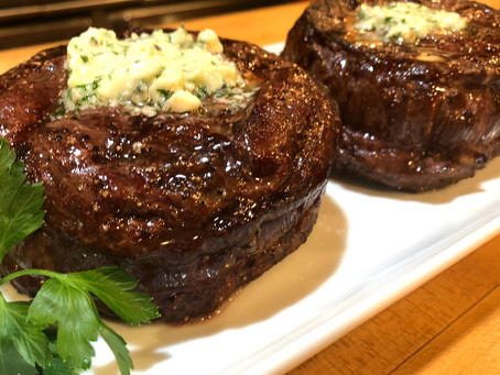 Grilled Filet Mignon with Blue Cheese Butter