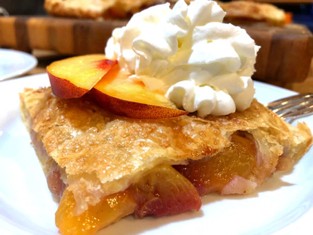Just Peachy Slab Pie