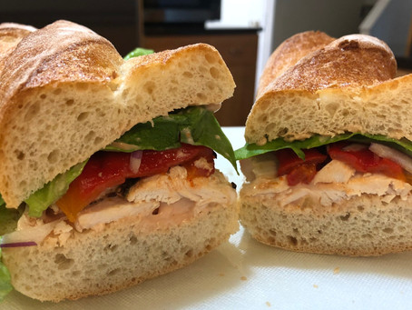 Chicken and Roasted Pepper Sandwich