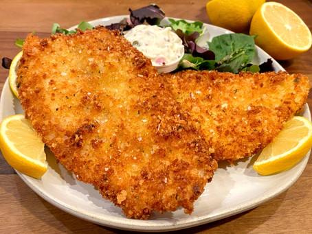 Flounder Milanese with Tartar Sauce