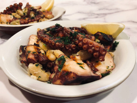 Grilled Octopus with Cannellini Beans