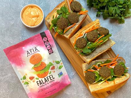 Banh Mi with Falafel
