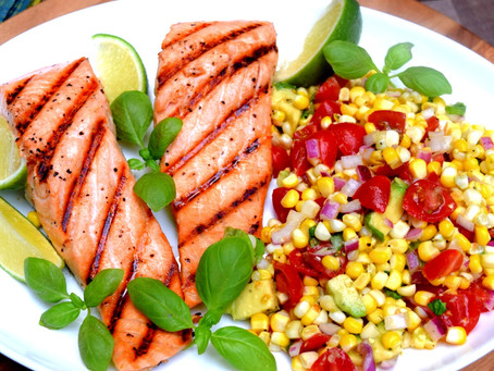 Grilled Salmon with Summer Corn Salad