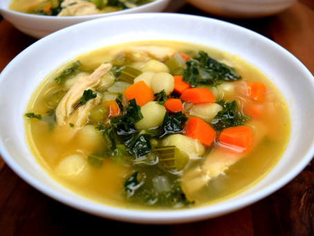Chicken Soup with Kale and Gnocchi
