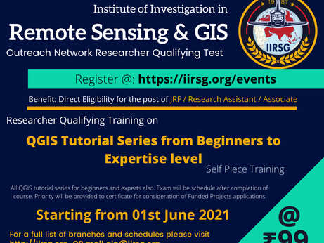 Tue, 01 Jun  |  RQT Workshop: QGIS Tutorial Series from Beginners to Expertise level