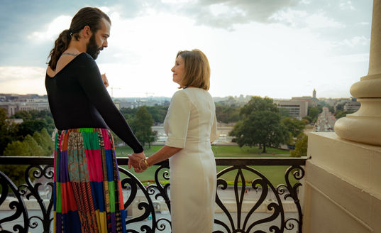Jonathan Van Ness meets with Nancy Pelosi to discuss the Equality Act
