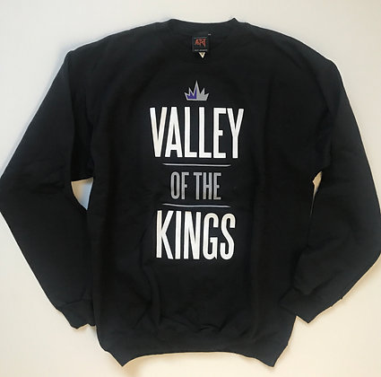 Valley Sweatshirt in Black and Purple
