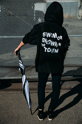 Swim or Drown in the Town Zip Hoodie