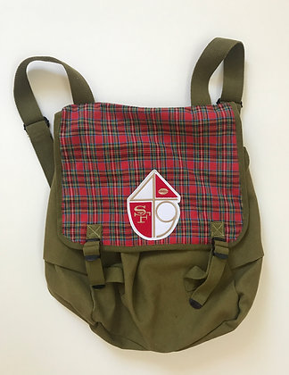 Haversack with plaid