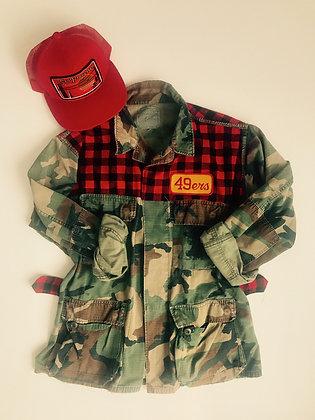 Rare script patch on classic lumberjack flannel