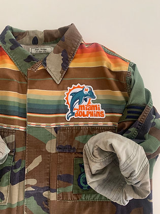 Southwest fabric with all the right colors for this retro patch