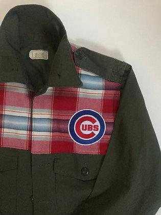 Rare vintage fabric on rare army jacket