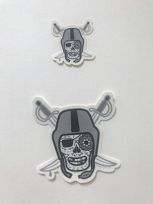 Dia De Los Sticker in Silver and Black