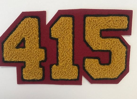 415 Chenille Patch