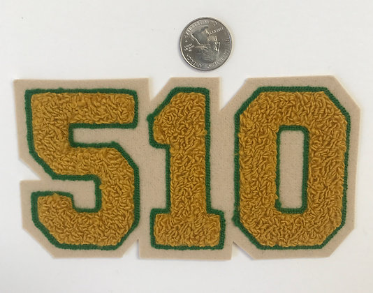 510 in Green and Gold chenille