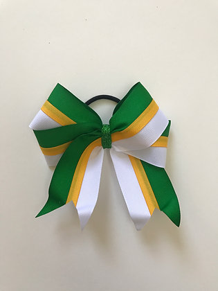 Bow in Green Yellow and White