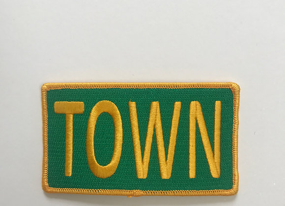 Town Patch in Green and Gold