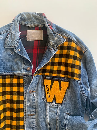 Vintage Denim W Flannel Inside And Out