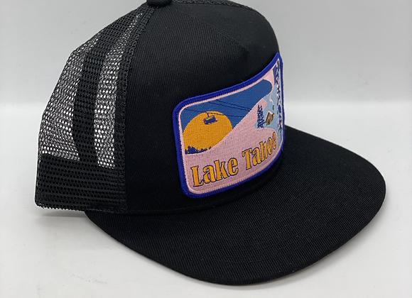 Lake Tahoe Winter Scene Pocket Hat