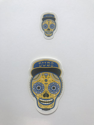Dia De Los Sticker in Blue and Gold