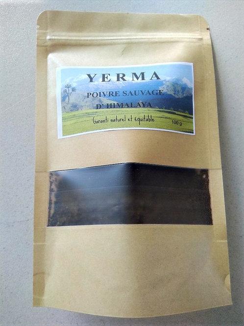 Poivre YERMA moulu 100g dans son enveloppe alimentaire