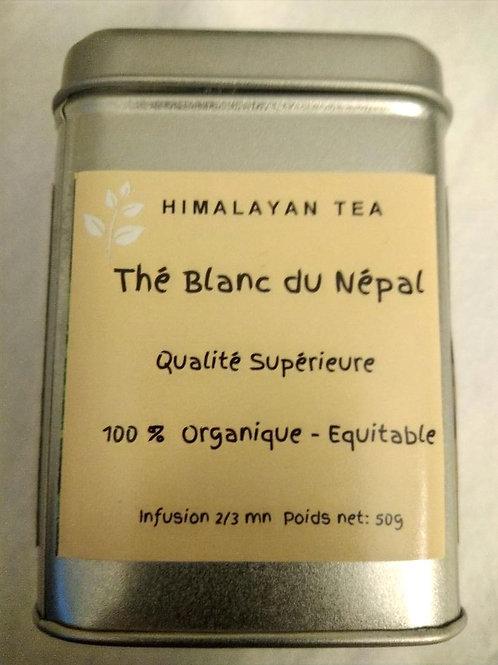 Thé blanc organique,  50g dans sa boite argentée.