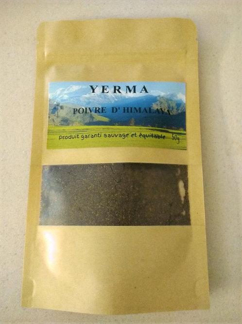 Poivre sauvage YERMA 50g moulu dans son enveloppe alimentaire