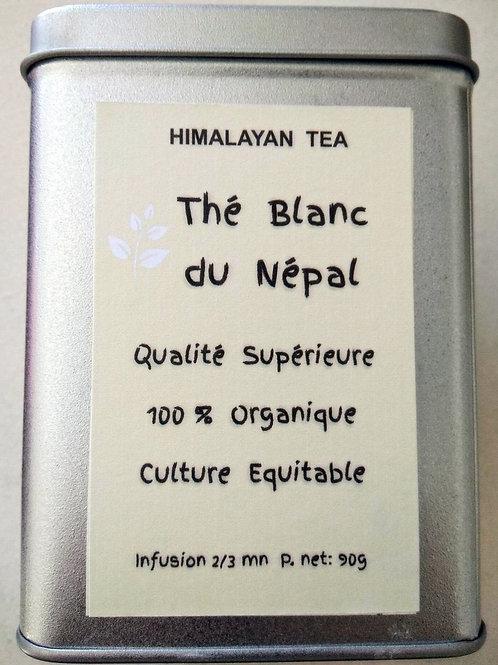Thé blanc organique,  90g dans sa boite argentée.