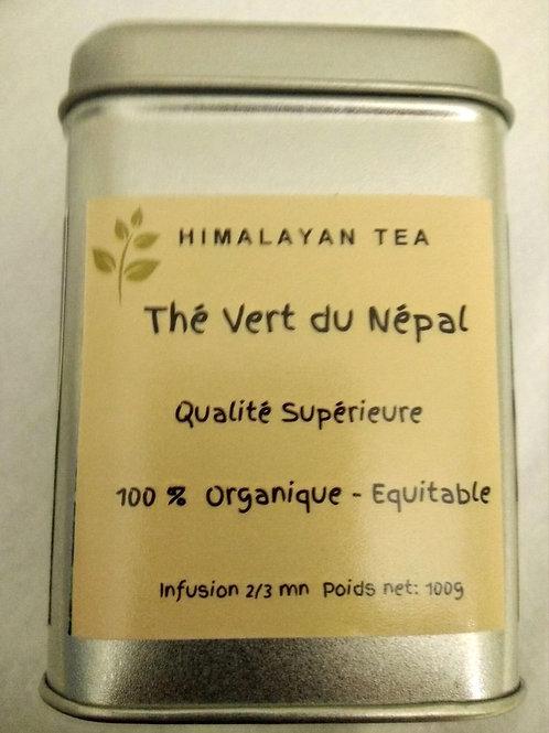 Thé Vert organique, 100g dans sa boite métal.