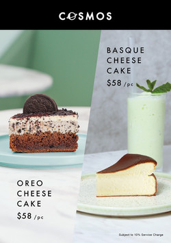 Oreo Cheese Cake x Basque Cheese Cake