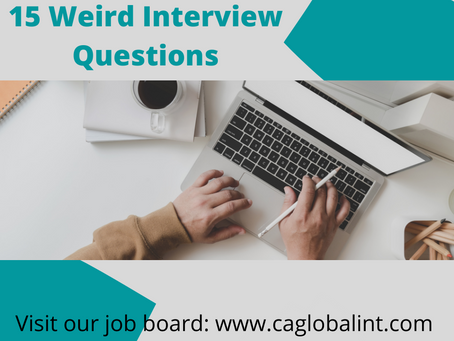 15 Weird Interview Questions