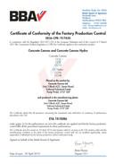 FPC - Üzemi gyártásellenőrzési tanúsítván