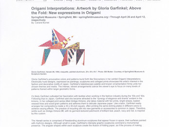 Origami Interpretations: Artwork by Gloria Garfinkel; Above the Fold: New expressions in Origami