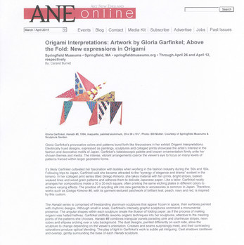 Origami Interpretations: Artwork by Gloria Garfinkel; Above the Fold: New expressions in Origami
