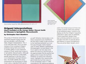 d'Art International, Origami Interpretations.