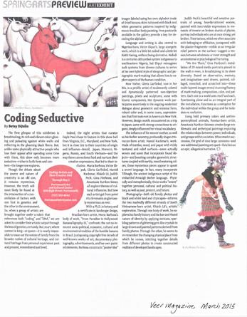 Veer Magazine Spring Arts Review Coding Seductive.