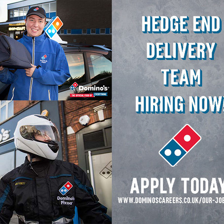 OUR DELIVERY TEAM NEEDS YOU - HEDGE END!