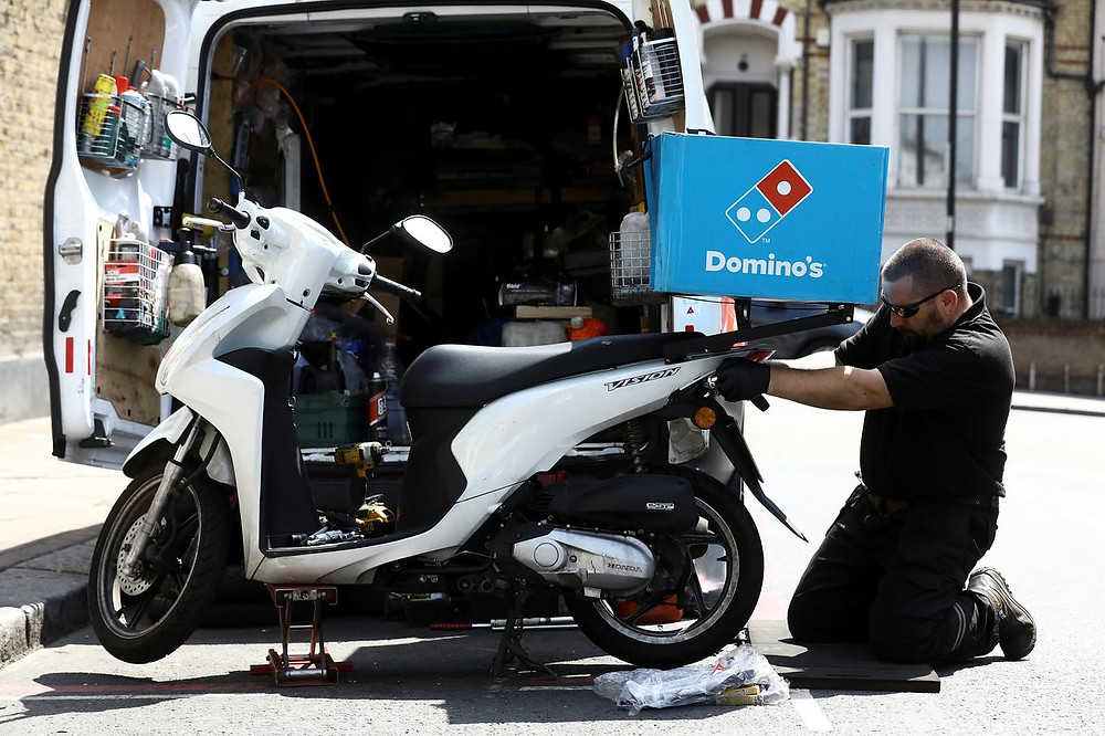 moped driver jobs domino's