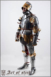 """""""Alla Tedesca"""" harness c. 1459, modeled on originals in Talhoffer and other references"""