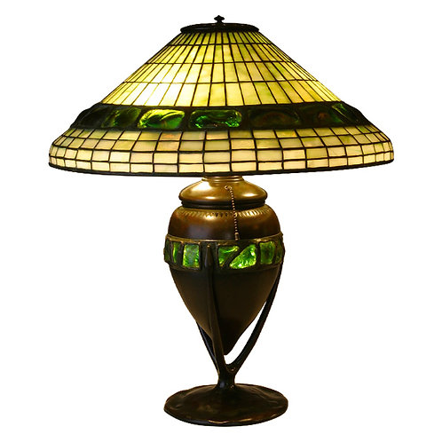 Tiffany Turtleback Geometric Lamp