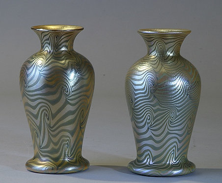 "Durand ""King Tut Design "" Vases"