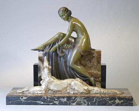 French Deco Bronze signed Lemci