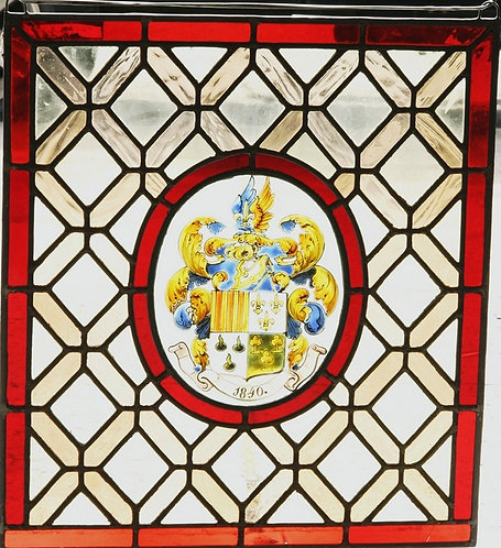 English Stained Glass Window #386