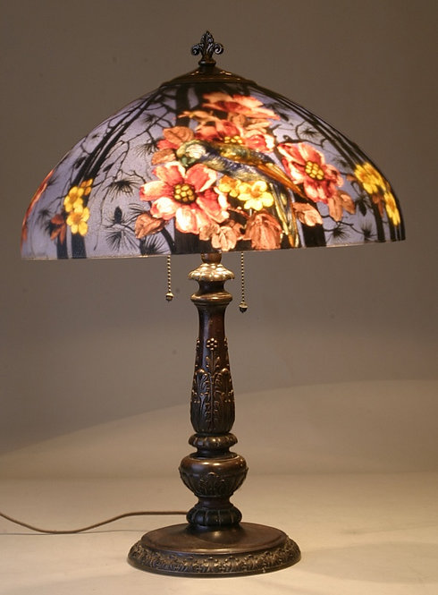 Handel Parrots 18″ Lamp