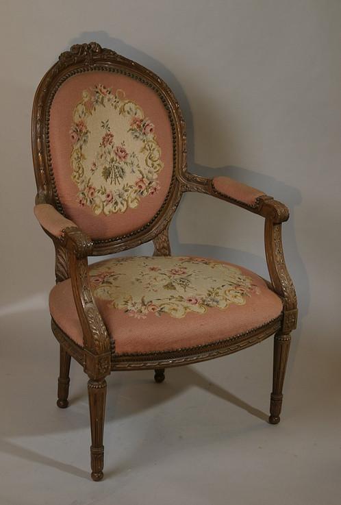 Louis XVI Needlepoint Chair